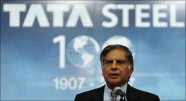 Tata Group chairman Ratan Tata at the annual general meeting of Tata Steel.