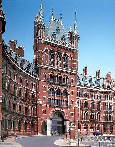 St Pancras Renaissance Hotel.