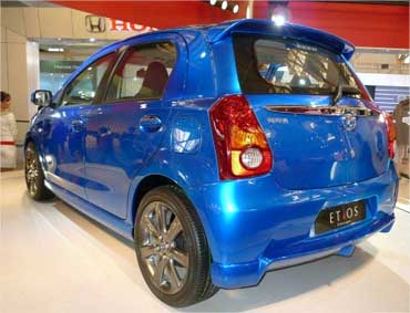 Rear view of Etios Liva.