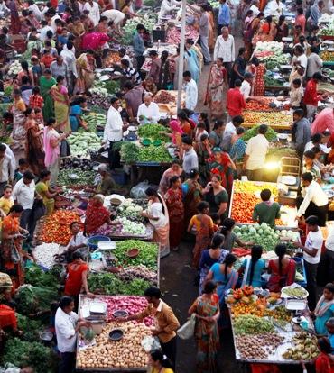 People buy vegetables.