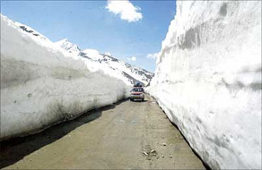 Roads in Ladakh are not affected.