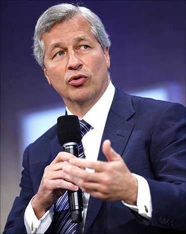 P Morgan Chase's James Dimon.