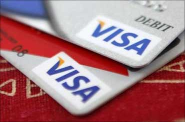 Visa's value rose 15 per cent.