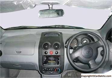 Interior view of Aveo UVA.