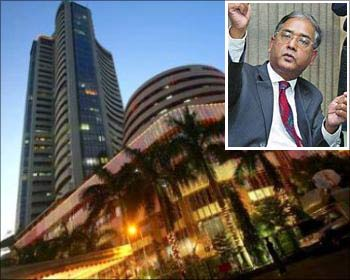 (Inset) U K Sinha, the new Sebi chairman.