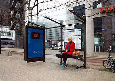 Weighing scale bus stop.