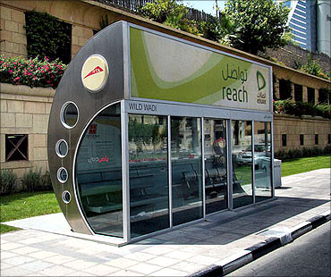 Air-conditioned bus stop.