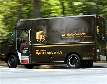 UPS vehicle.
