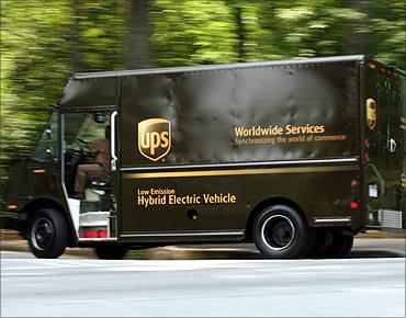UPS vehicle.