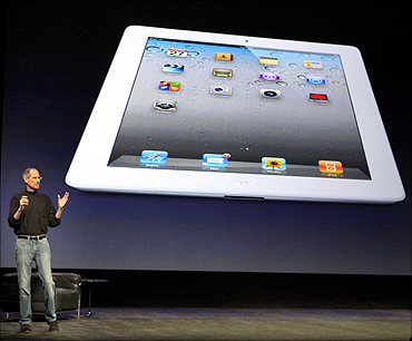 Apple Inc. CEO Steve Jobs introduces the iPad 2.