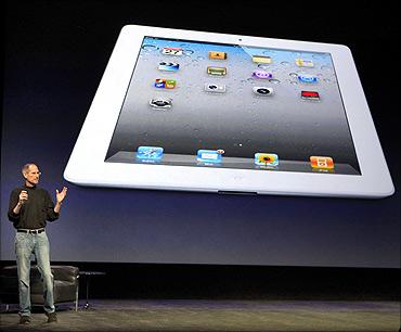 Apple Inc. CEO Steve Jobs introduces the iPad 2.