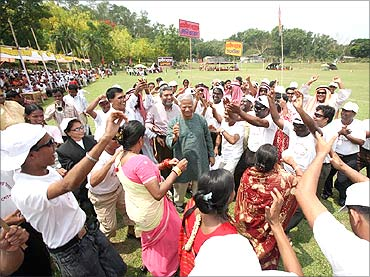 Muhammad Yunus at a Grameen Bank event.