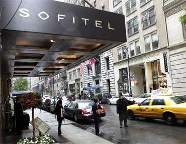 Sofitel hotel from where IMF chief was arrested.