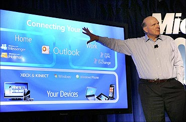 Microsoft chief executive officer Steve Ballmer.
