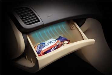 Cooled glove-box.