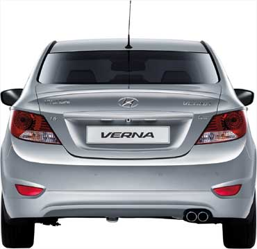 Rear view of Verna.