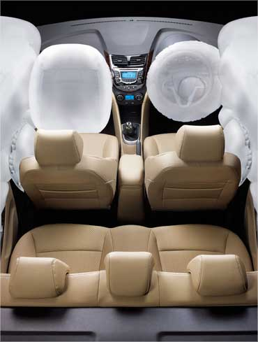 6 airbags for occupant protection.