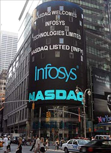Infosys listed in Nasdaq.