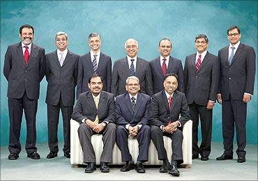 Infosys' core team members.