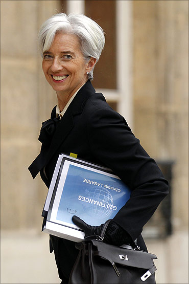 French Finance Minister Christine Lagarde.
