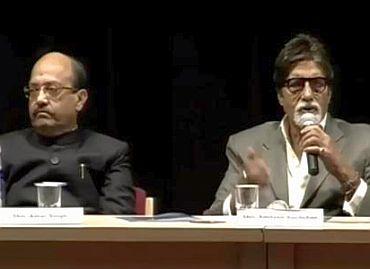Amitabh Bachchan and Amar Singh.