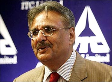 ITC chairman YC Deveshwar.