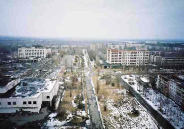 Pripyat is an abandoned shell of a city.