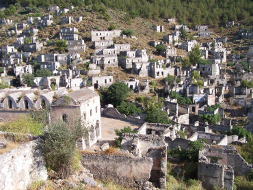 Kayakoy has been a ghost town since 1923.