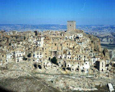 Earthquakes and landslides forced people to abandon Craco.