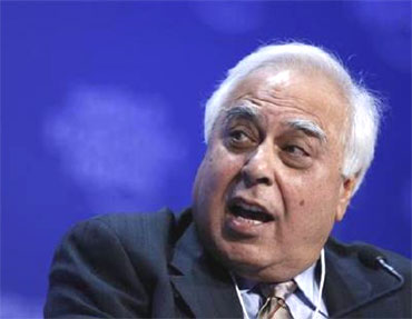 Minister of Communications and Information Technology Kapil Sibal.