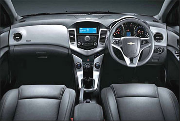 Interior view of Cruze.