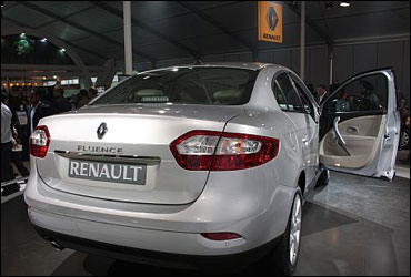 Rear view of Fluence.