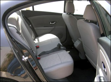 Rear seats of Fluence.