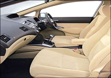 Interior view of Honda Civic.