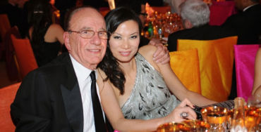 Rupert with his wife, Wendi Deng.