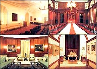 Rashtrapati Bhavan's interiors.