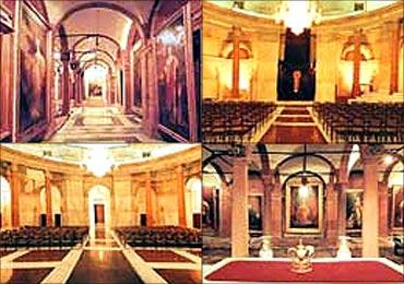 Rashtrapati Bhavan's grand interiors.