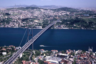 Turkey's finances hang in balance. A panaromic view of Istanbul.