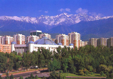 Kazakhstan can face an uphill struggle. A view of capital Almaty.