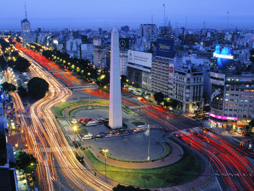 Argentina's finances are running in circles. A panaromic view of capital Buenos Aires.
