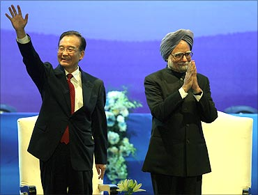 Chinese Premier Wen Jiabao and Prime Minister Manmohan Singh.