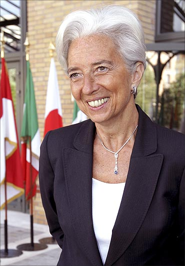 The new IMF managing director Christine Lagarde.