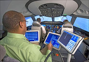 787 Dreamliner's cockpit.