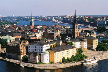 Sweden scores 54 points in human capital.
