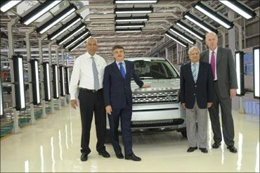 Tata Motors JLR officials