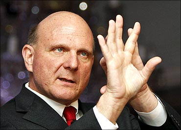 Steve Ballmer in New Delhi.