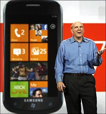 Steve Ballmer talks about the Windows Phone.