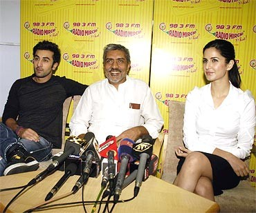 Prakash Jha at the promotion of his film, Raajneeti