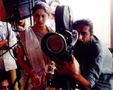 Prakash Jha on a shoot location