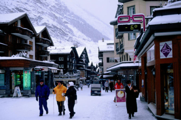 Zermatt turned some of its streets pedestrians-only.